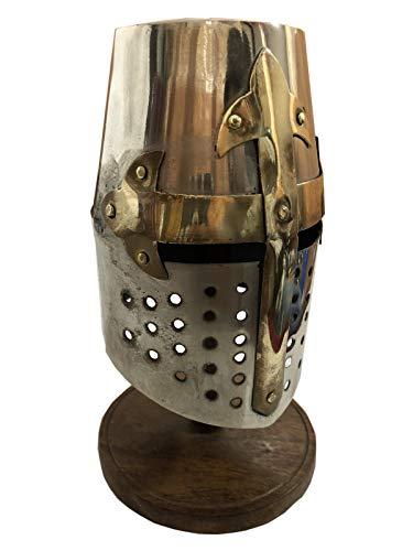 607c05c9898b5 Medieval Sugarloaf Crusader Helmet Warrior Armor Knight Adult Costume  Functional Weapons   Armor