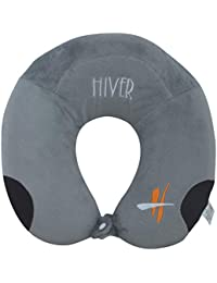 Hiver Memory Foam Neck Travel Pillow Neck Pillow with Elevated Headrest and Free 3D Eye Mask for Sleeping