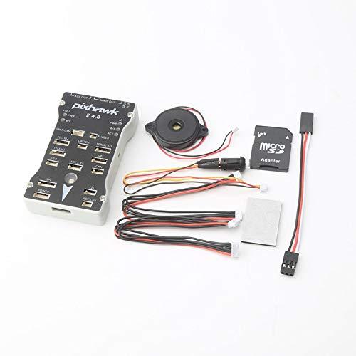 CHOULI Pixhawk 2.4.8 32 Bit Flight Controller mit Sicherheitsschalter Summer Erweiterungsmodul Grau & Schwarz -