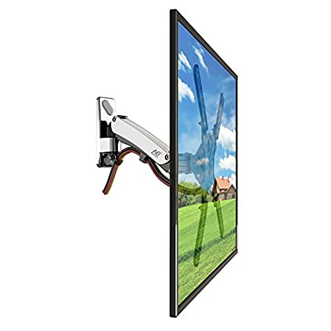 """StandMounts Full Motion Articulating Gas Spring TV Wall Mount Bracket for 50"""" - 60 inch LED LCD Flat Panel Screens from 30.8lbs up to 50lbs"""