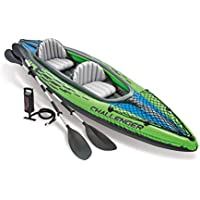 Intex 68306NP - Kayak hinchable Challenger K2 con 2 remos, 351 x 76 x 38 cm
