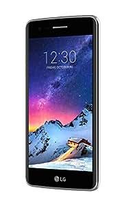 LG K8 2017 Smartphone 4G LTE, Schermo HD da 5 pollici, Fotocamera da 13 MP, Processore Quad Core da 1.4 GHz Qualcomm Snapdragon, 1.5 GB di RAM, 16 GB di Memoria Interna espandibile fino a 32 GB, 2500 mAh di Batteria, Grigio [Italia]