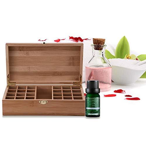 Ätherisches Öl Box Bambus dauerhafte Ölflasche Aufbewahrungsbox für unterwegs Täglicher Gebrauch Präsentation
