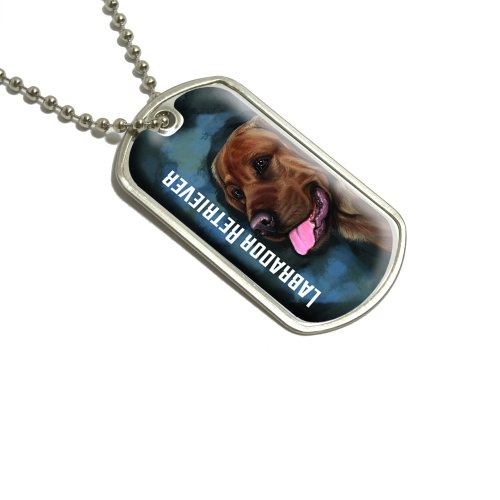 Preisvergleich Produktbild Schokolade Labrador Retriever blau–Hund Pet Militärische Erkennungsmarke Gepäck Schlüsselanhänger