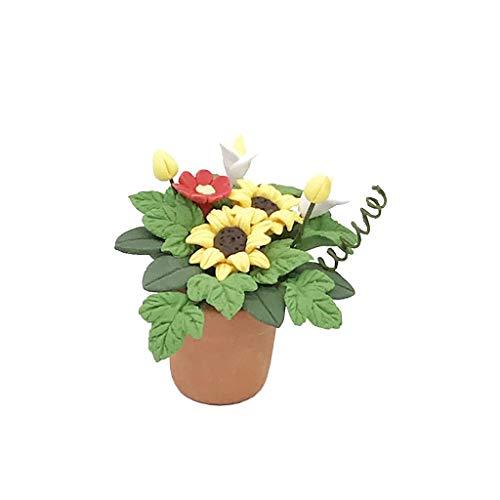 Vektenxi Premium Qualität niedlichen Mini Puppenhaus Miniatur grüne Pflanze Blume im Topf Fairy Garden Zubehör Home Decor Spielzeug für Kinder (Puppenhaus Miniatur-pflanzen)