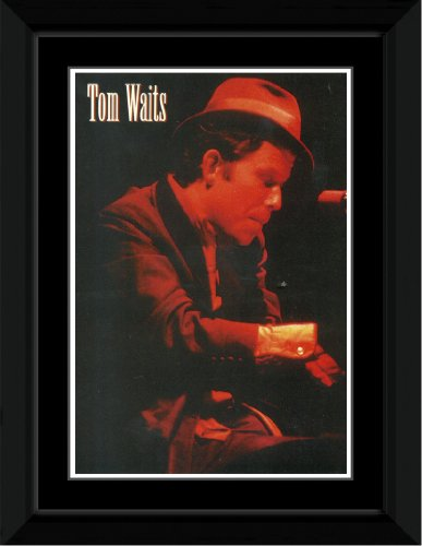 Tom Waits - Piano Framed and Mounted Print - 14.4x9.2cm