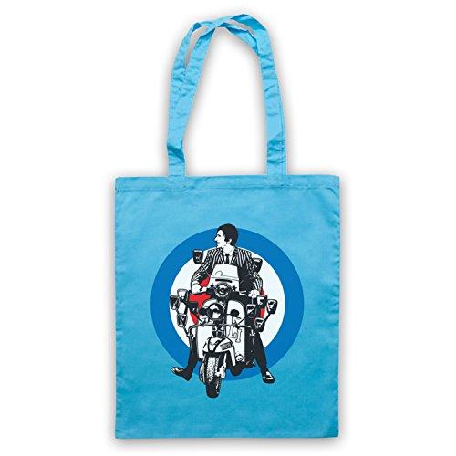 Inspiriert durch Quadrophenia Jimmy Mod Logo Inoffiziell Umhangetaschen Hellblau