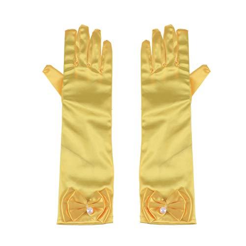 TOYANDONA 1 para Lange Handschuhe Satin Bowknot Handschuhe Ellenbogen Länge Handschuhe für Hochzeit Abend Party ()