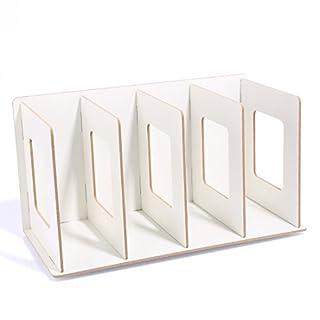 Spieland DIY Bücherregal Magazin Halter CD Ständer Metall Kunst Desktop Lagerregal Holz