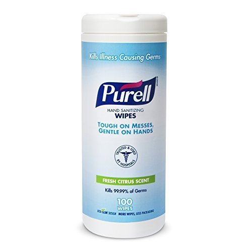 purell-9111-12-sanitizing-wipes-100-count-canister-case-of-12-by-purell
