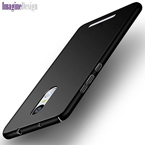 "WOW Imagine(TM) All Sides Protection ""360 Degree"" Sleek Rubberised Matte Hard Case Back Cover For XIAOMI MI REDMI NOTE 3 - Pitch Black"