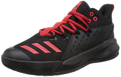 adidas Herren Street Jam 3 Basketballschuhe, schwarz/rot, 45 1/3 EU