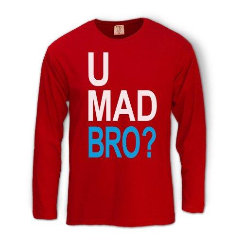 U Mad Bro Rot XXL langarm T-Shirt