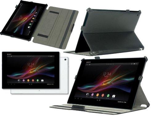 """Navitech Housse étui en Simili Cuir avec Support intégral Compatible avec Sony Xperia Tablet Z2 10.1 """" Pouces (Noir)"""