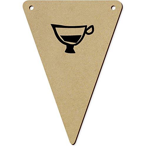 Azeeda 5 x 140mm 'Coupe d'Espresso' fanions Triangles en Bois (BN00030270)