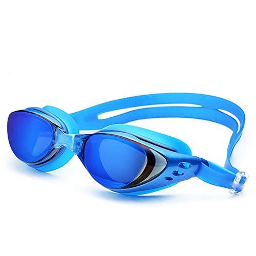 Epinki Unisex PC Schwimmende Schutzbrille UV-Schutz HD Anti-Beschlag Schwimmbrille mit Ohrstöpsel...