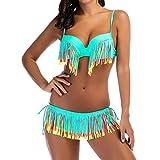 Luckycat Borla Bikini Tops Sujetador Push-Up Parte de Arriba Bikini Bañadores Traje de Baño Ropa Verano Mujer Conjunto de Bikini de Talle Alto para Mujer Dos Piezas Acolchado Traje de baño para Mujer