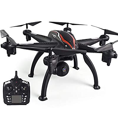 Goolsky L100 2.4G 720P Wide-Angle WiFi FPV Camera 6-axis GPS RC Drone Auto Follow RC Hexacopter RC Toy for Adults Kids