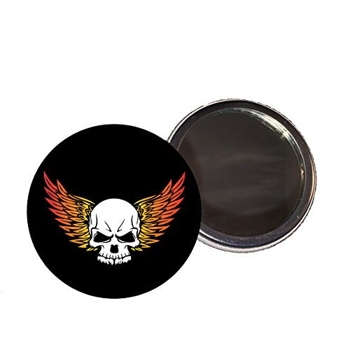 skull-with-flamed-wings-58mm-compact-mirror