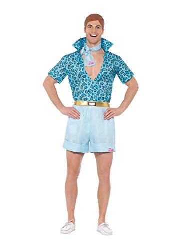 Smiffys Licenciado oficialmente Barbie, déguisementSafari Ken, Bleu, Avec chemise, shorts, cravate et perruque