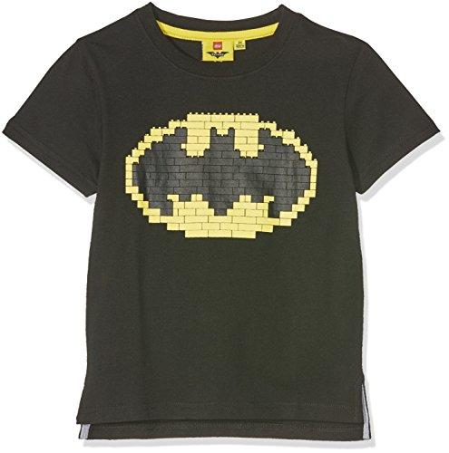 Shirt Lego Batman, Schwarz (Schwarz), 110 (Batman Kinder)