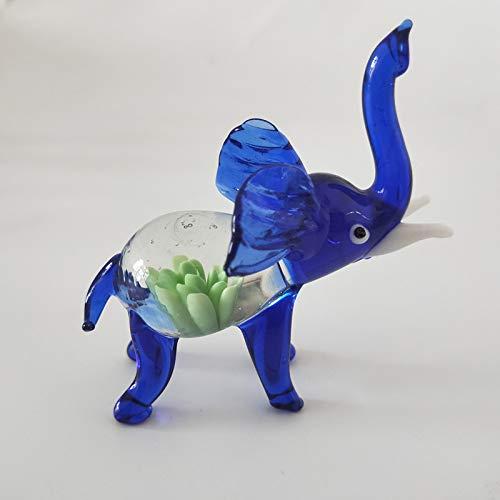 las Ornamente Skulptur Statuen Auto Decoration_Glass Elephant Kristall Symbol Thai Elephant Glas Autofenster Dekoration 8 * 4 * 7 cm (2 Stücke) ()