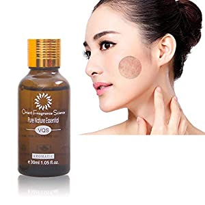 Pawaca Natural Plant Essential Oil, Skin Whitening Brightening Face Oil With Vitamin B3, Rose Scent, Natural Pure Remove Ance Spots, Reduce Dark Spots, Acne Scars, Wrinkles-1.75 Fl.oz, 50ML