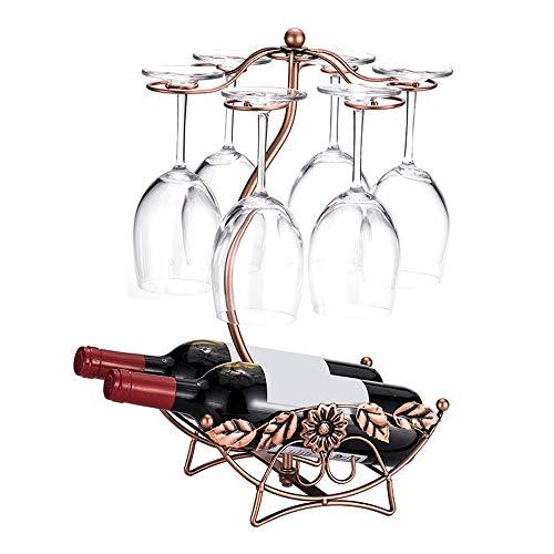 Wuxingqing Weinregal Tischplatte Freistehendes stapelbares Weinglas-Metallgestell Arbeitsplatte 2 Weinflaschenhalter-Ausstellungsstand (Color : Bronze, Size : 2 Bottles)