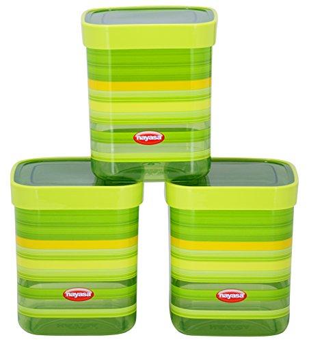 Nayasa Superplast Fusion DLX Plastic Container Set, 1 Litre, Set...