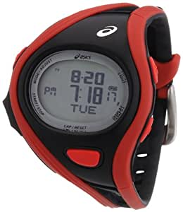 Asics Unisex-Armbanduhr DIGITAL SPORTWATCH CHALLENGE S rot/schwarz Digital Plastik CQAR0304