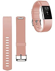 Yincol Smart Fitbit Charge 2 Armband Ersatz Replacement band + Schutzfolie for Fitbit Charge 2 wristband(No Tracker)