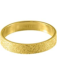 Quiges Stainless Steel Gold Sand Stardust Sparkle Glitter Inner Ring 4mm Height for Stackable Ring Collection