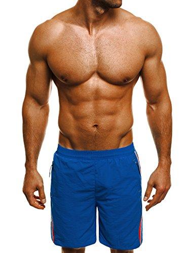 OZONEE Herren Badeshorts Badehose Schwimmhose Schwimmshorts Shorts ATHLETIC 716 Blau_HR-WK16