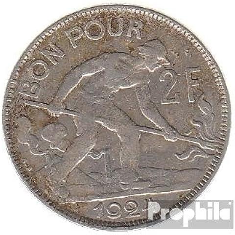 Lussemburgo Km-No.. : 36 1924 molto già Nickel 1924 2 FF Gekröntes Monogram (Monete )