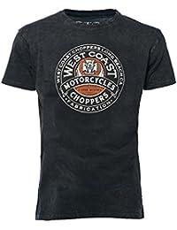 West Coast Choppers T-Shirt Fabrication Vintage, Color:vintage black;Größe:XL