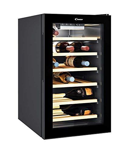 Candy Weinkühler DiVino CWC 021 ELSP, Elektronisch, 6x Holz Regale für 21x 0,75l Bordeaux Flaschen - Elektronische Regale