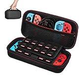 Tasche für Nintendo Switch - Younik Verbesserte Version Harte Reise Hülle Case mit größerem Speicherplatz für 19 Spiele, offi