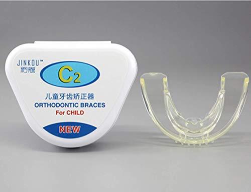 DDPP Aparatos ortopédicos de ortodoncia para niños, Brackets ortodónticos de ortodoncia, Sonrisas, niños heterosexuales, Dos etapas, de 7 a 12 años de Edad,C2transparentHardstage