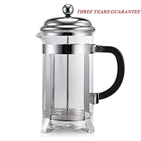 Homdox 8 Cup French Press Cafetiere, 1 Litre Premium Glass Coffee Maker, 34 Oz