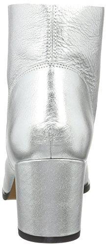 Buffalo London Damen Bb 2006 Laminado Kurzschaft Stiefel Silber (plata 06)