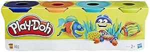 Play-Doh - B5517 - Pack de 4 Pots,Couleur aléatoire