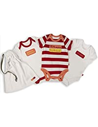 The Essential One - Paquete de 3 Body Bodies para bebé unisex - ESS172