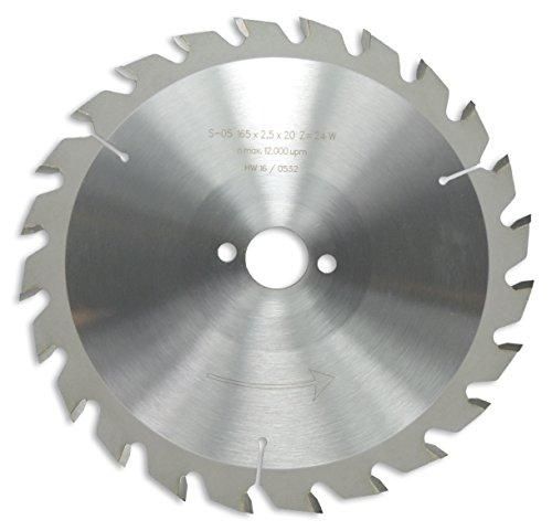 Preisvergleich Produktbild HM / HW Sägeblatt mit Nebenlöchern und Wechselzahn 165 x 20 mm mit 24 Zähnen Made in Germany (GE13)