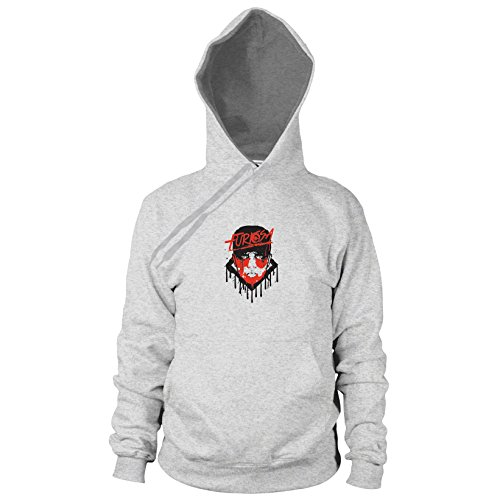 Furiosa - Herren Hooded Sweater, Größe: M, Farbe: grau meliert (Furiosa Kostüm Mad Max)
