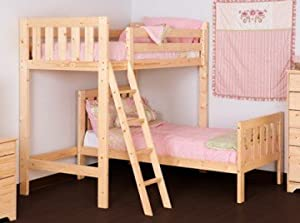 L Shaped Bunkbed- 3FT loft bunk with bottom bed, includes two mattresses