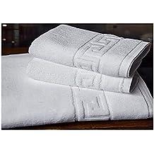 SABANALIA Toalla Greca 450 grs de algodón Eco - Uso Profesional, Lavabo 50x100