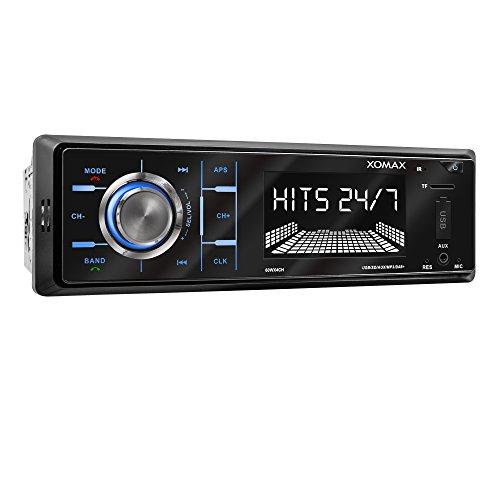 XOMAX XM-RD263 Autoradio mit integriertem DAB+ Tuner und Antenne, RDS, Bluetooth Freisprecheinrichtung, USB, SD, MP3, AUX-IN, 1 DIN (Xm-radio-antenne)