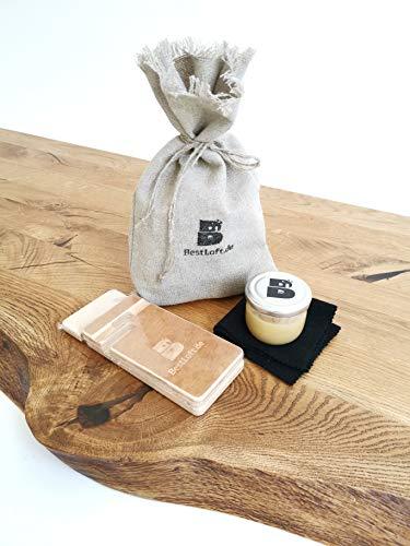 1 Original BestLoft Hartwachs-Öl für Massivholz - Holzpflege-Set (80 ml Pflegeset) + Überraschung für Ihr Handy!
