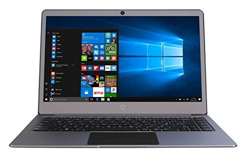 Gemini NC14 Ultra Slim Aluminium Laptop, 14-inch Full HD IPS Screen Notebook (Grey) - (Intel Dual-Core Celeron N3350 Processor, 4 GB RAM, 64GB SSD, Windows 10 Home, Bluetooth 4.0, Webcam)