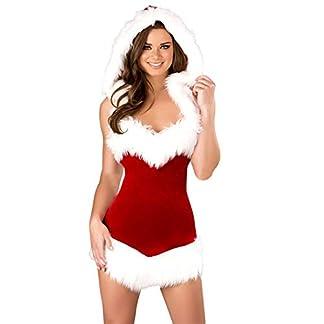Uniforme de Navidad para mujer, disfraz de Papá Noel con capucha, sexy vestido de terciopelo rojo elástico de escena uniforme, vestido de Navidad